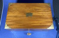 Georgian Solid Mahogany Brassbound Campaign Box (16 of 16)