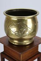 Antique Arts & Crafts Brass Planter / Jardinière (3 of 13)