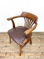 Early 20th Century Antique Oak Desk Chair (7 of 9)