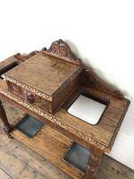 Antique Victorian Carved Oak Hall Stand (4 of 14)