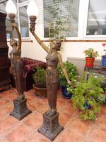 2 Bronze Art Nouveau Style Lamps (11 of 12)