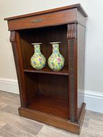 English Small Regency Style Dwarf Recessed Mahogany Open Bookcase (5 of 44)