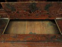Antique Carved Oak Writing Bureau Desk with Fall Front, Handsome Gothic Piece (23 of 24)