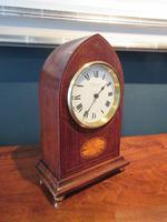 Antique Sheraton Inlaid Dent of London Mantel Clock (7 of 7)