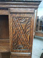 Carved Oak Revolving Bookcase (4 of 8)