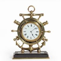 Brass Ship's Novelty Clock Presented to Captain Tynte F Hammill RN (2 of 7)