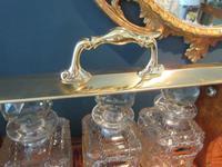 Late Victorian Polished Oak Three Bottle Tantalus (3 of 10)