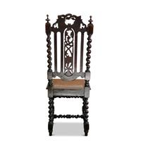Set of 4 Victorian, Carolean Style Oak Dining Chairs (6 of 6)