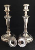 Pair of Old Sheffield Plate on Copper Candlesticks (3 of 7)