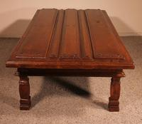 Coffee Table Made With An Old 17th Century Spanish Door In Chestnut (6 of 9)