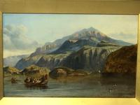 """19th Century Oil Painting """"Bonnie Prince Charlie Crossing To Skye"""" Clarkson Frederick Stanfield RA RBA 1793-1867 (2 of 27)"""