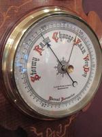 Antique Sheraton Inlaid Banjo Barometer (3 of 7)