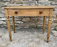 Antique Pine Side Table with Drawer (2 of 14)
