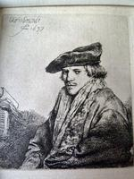 "Rembrandt Van Rijn Etching ""Young Man in Velvet Cap "" 1637 (2 of 6)"