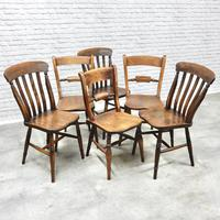 6 Windsor Kitchen Chairs, Assorted Styles (3 of 6)