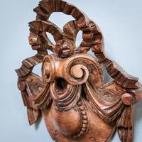 Carved Walnut Cartouche (5 of 6)