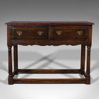 Antique Dresser Base, English, Oak, Side, Hall, Table, Late Georgian c.1800 (3 of 10)