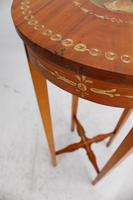 Small Edwardian Painted Satinwood Plant Stand / Jardinière (13 of 13)