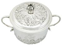 Sterling Silver Porringer and Cover - Antique William III (1689) (9 of 12)
