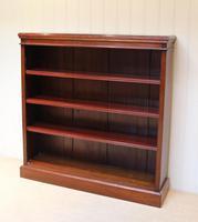 Mahogany Finish Rowan Wood Open Bookcase (2 of 10)