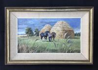 "Rosemary Sarah Welch  Oil on Canvas ""Haytime"""