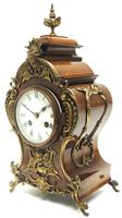 Magnificent French 8-day Mantle Clock Walnut Boulle Striking Mantle Clock (9 of 11)