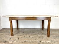 Antique Oak Scrub Top Kitchen Table (6 of 11)
