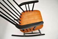 1960's Vintage Ebonised Elm Rocking Chair (6 of 11)