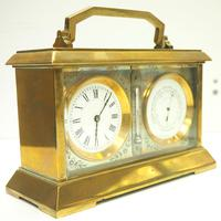 Fine Antique French 8-day Combination Thermometer, Clock & Barometer Carriage Clock Timepiece by Frodsham c.1890 (4 of 10)