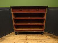 Regency Style Black Painted Linen Press Cupboard with Internal Slides (5 of 18)