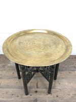 Early 20th Century Middle Eastern Brass Tray Top Folding Table (2 of 8)