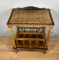 Victorian Inlaid Walnut Canterbury What Not (7 of 11)