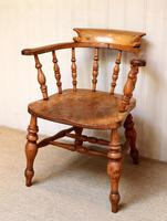 Elm And Beech Smokers Bow Armchair (3 of 10)