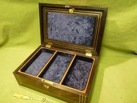 Inlaid Unisex Rosewood Jewellery Box + Tray. c1835 (10 of 12)