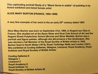Oil Painting Portrait Study Black Horse in Stable Signed Alice Mary Burton RBA '1893-1968' (26 of 26)