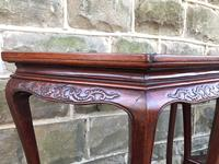 Pair of Oriental Chinese Marble Top Console Tables (9 of 12)