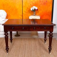 Desk Writing Table Mahogany 19th Century Victorian (7 of 11)