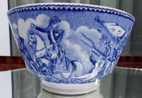 An Extremely Rare Pottery Napoleon Propaganda B&w Commemorative Bowl C.19thc (3 of 12)