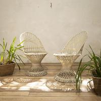 Pair of Mid 20th Century Russell Woodard Wicker Effect Side Chairs - Patio (11 of 11)