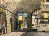 """Fine Oil Painting Architectural Entrance """"Micklegate Bar"""" York Signed F Chilton (11 of 31)"""