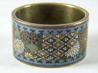 Antique Japanese Cloisonne Scroll Ring (4 of 4)