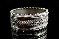 Antique Victorian Silver Bangle, Aesthetic Era, Boxed (11 of 17)