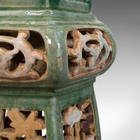 Antique Plant Stand, English, Ceramic, Decorative, Hall, Jardiniere, Victorian (10 of 12)