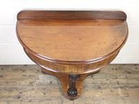 Victorian Mahogany Demi Lune Console Table (2 of 8)