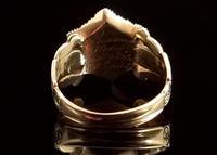 Antique Mourning Ring, 18ct Gold, Enamel, Pearl & Garnet - William IV (10 of 13)
