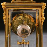 French 8 Day Striking Four Glass Ormolu Clock by Samuel Marti Paris, 19th Century (3 of 11)