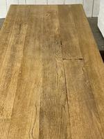 Bleached Oak French Trestle End Farmhouse Dining Table (21 of 28)