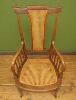 Unusual Antique Bentwood Chair with Caned Seat & Back (7 of 17)