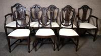 Set of Eight '6+2' Mahogany Dining Chairs in the Hepplewhite Style (2 of 15)