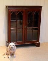 Mahogany Gothic Glazed Bookcase (3 of 11)